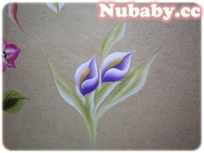 美甲教學-雙色花朵彩繪圖解分享