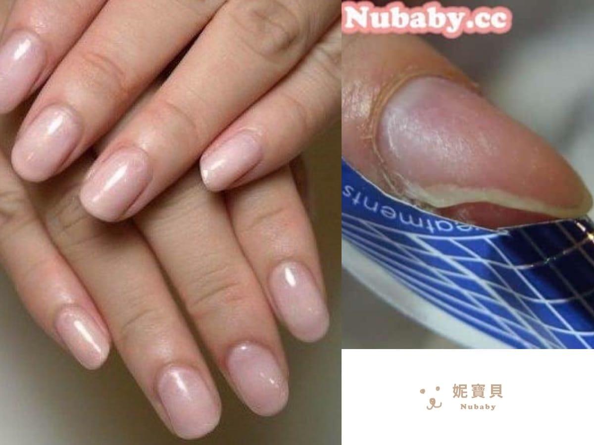 指甲教學-修補斷裂指甲的膚色凝膠