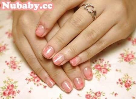 指甲教學-粉紅泡泡凝膠指甲