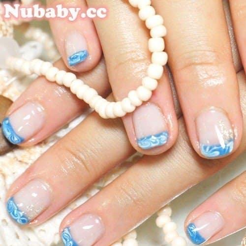 藍色夏天風璀璨凝膠作品-201106