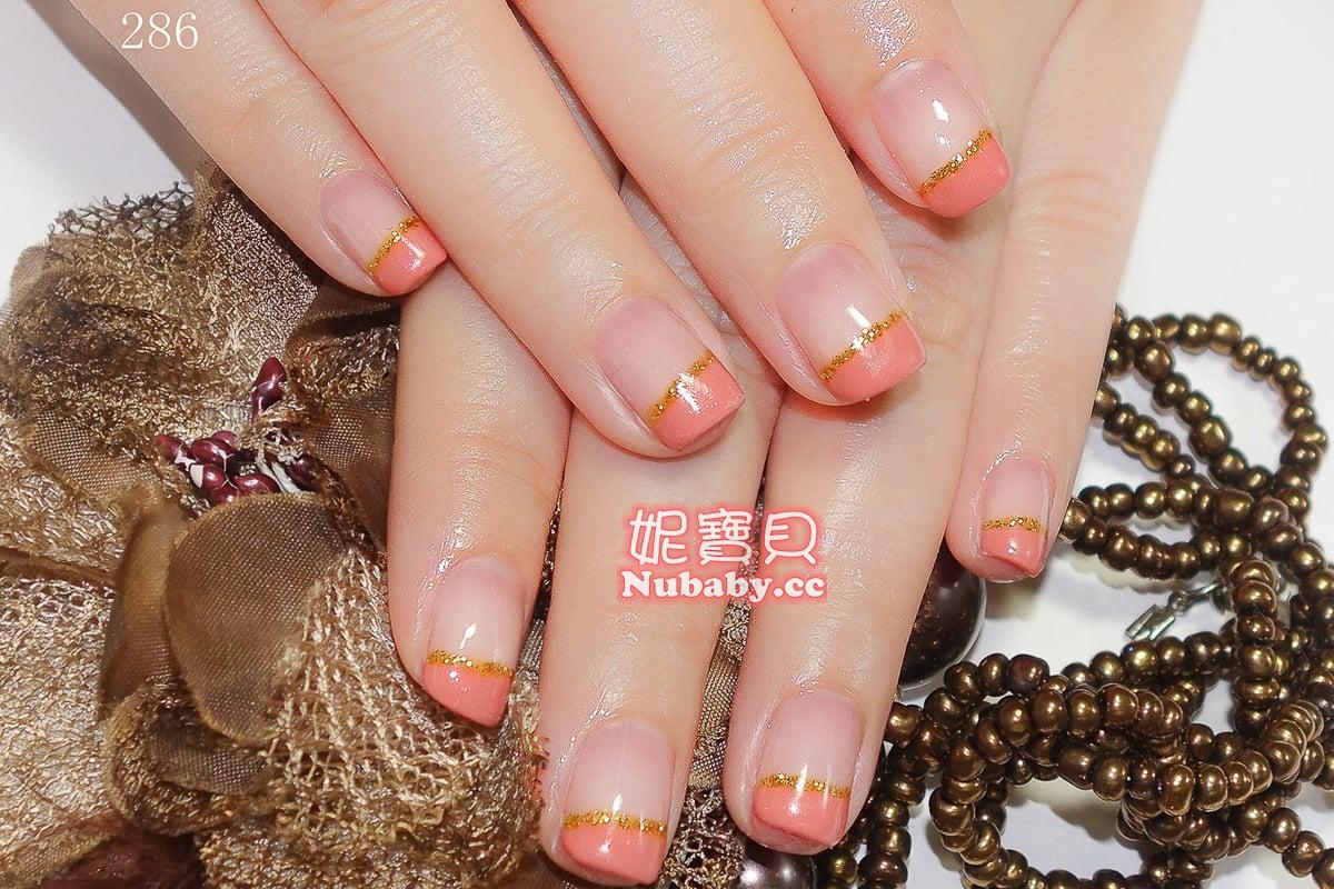 璀璨凝膠指甲-法式設計-早期作品-妮寶貝指甲&精油