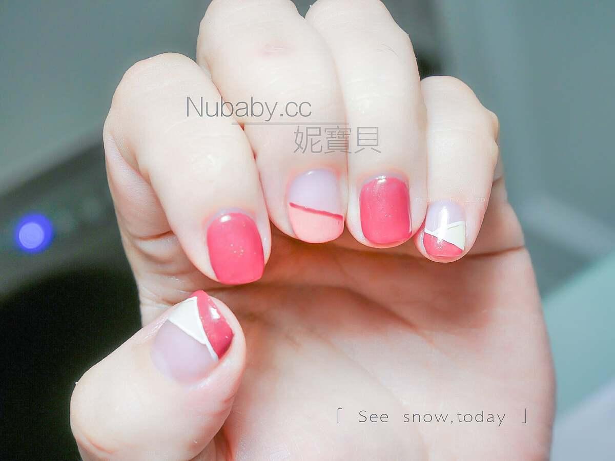 斜法設計-法式凝膠指甲