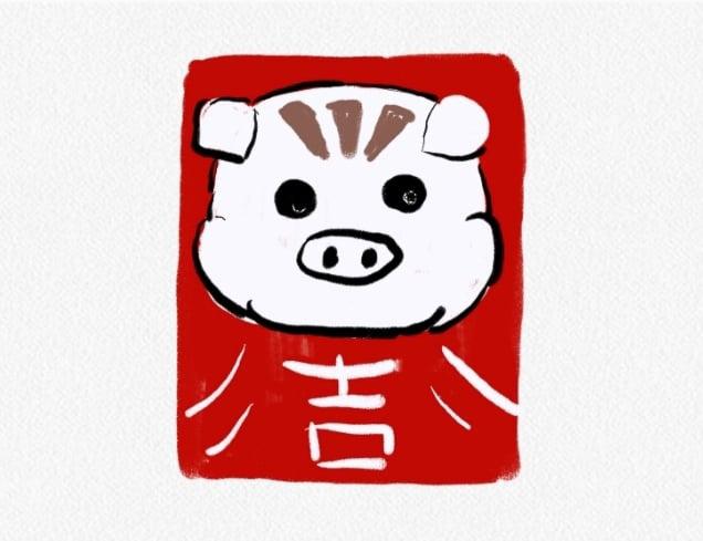 農曆新年 小豬設計 2019璀璨凝膠指甲