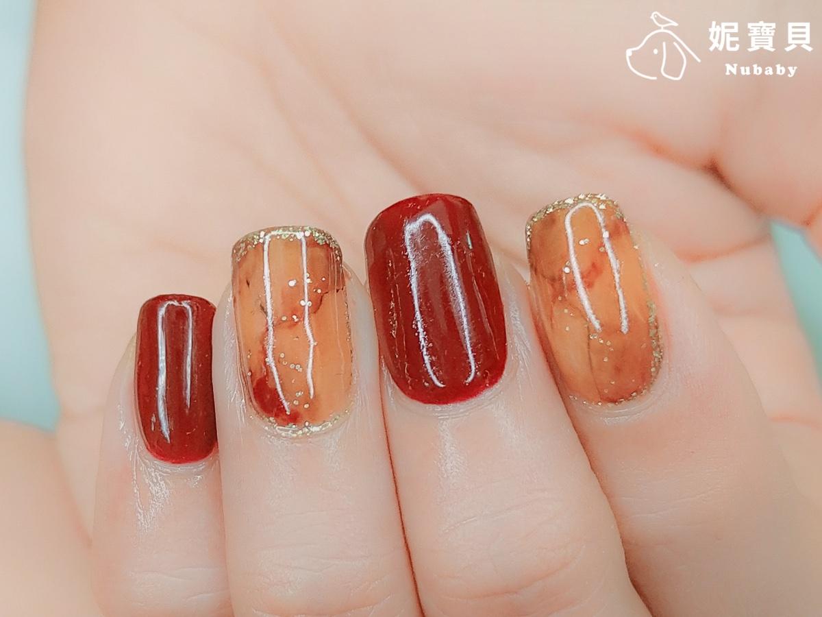 琥珀暈染-璀燦凝膠指甲 設計教學