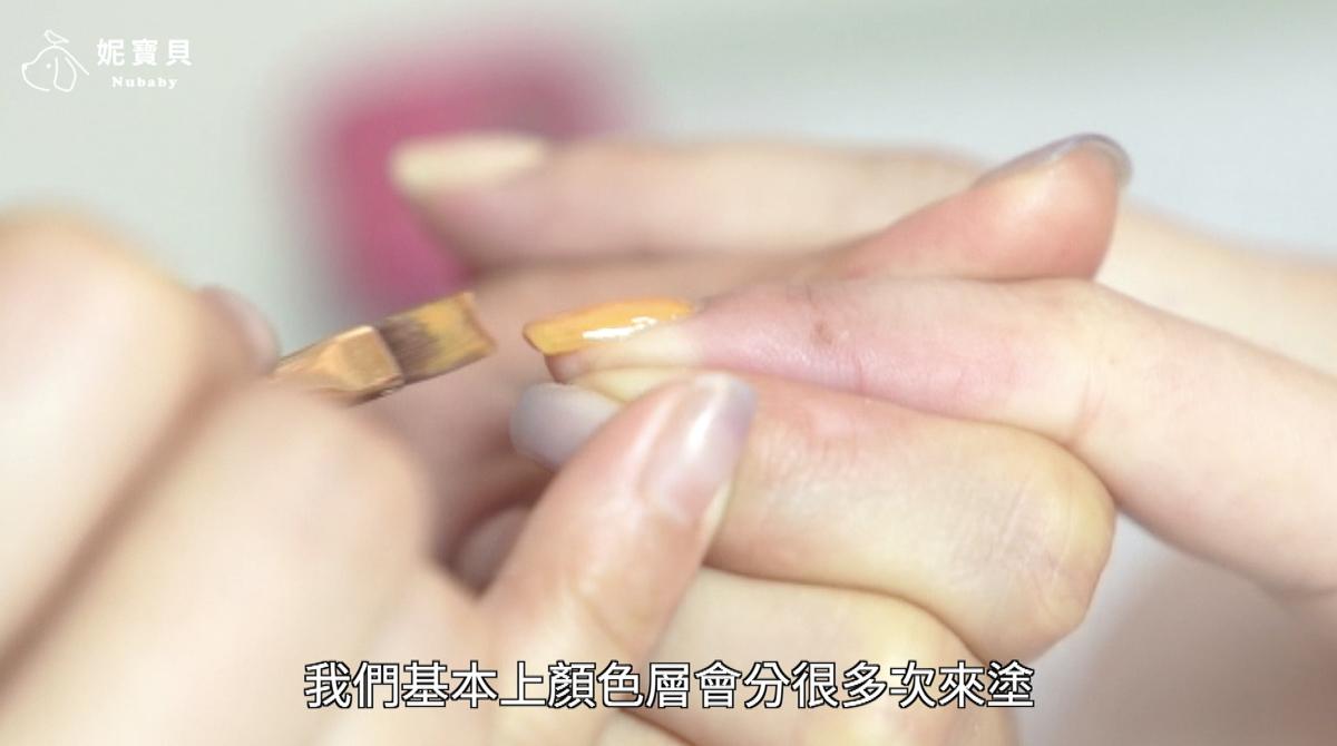 滿版跳色撞色 - 凝膠指甲 芥末黃滿版跳色撞色設計