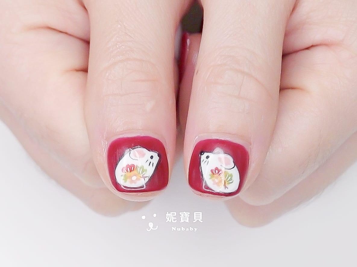 新年指甲彩繪-鼠年設計 春節款式 繪製示範影片