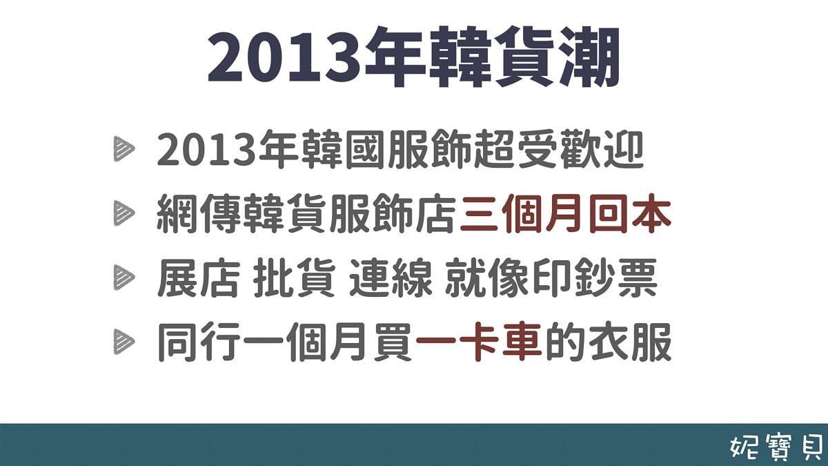 2013年的韓貨潮 開店的緣起