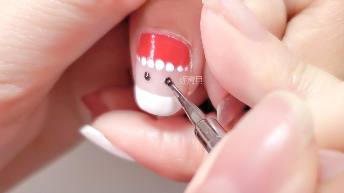 耶誕老公公 聖誕節美甲設計 手繪指甲超可愛