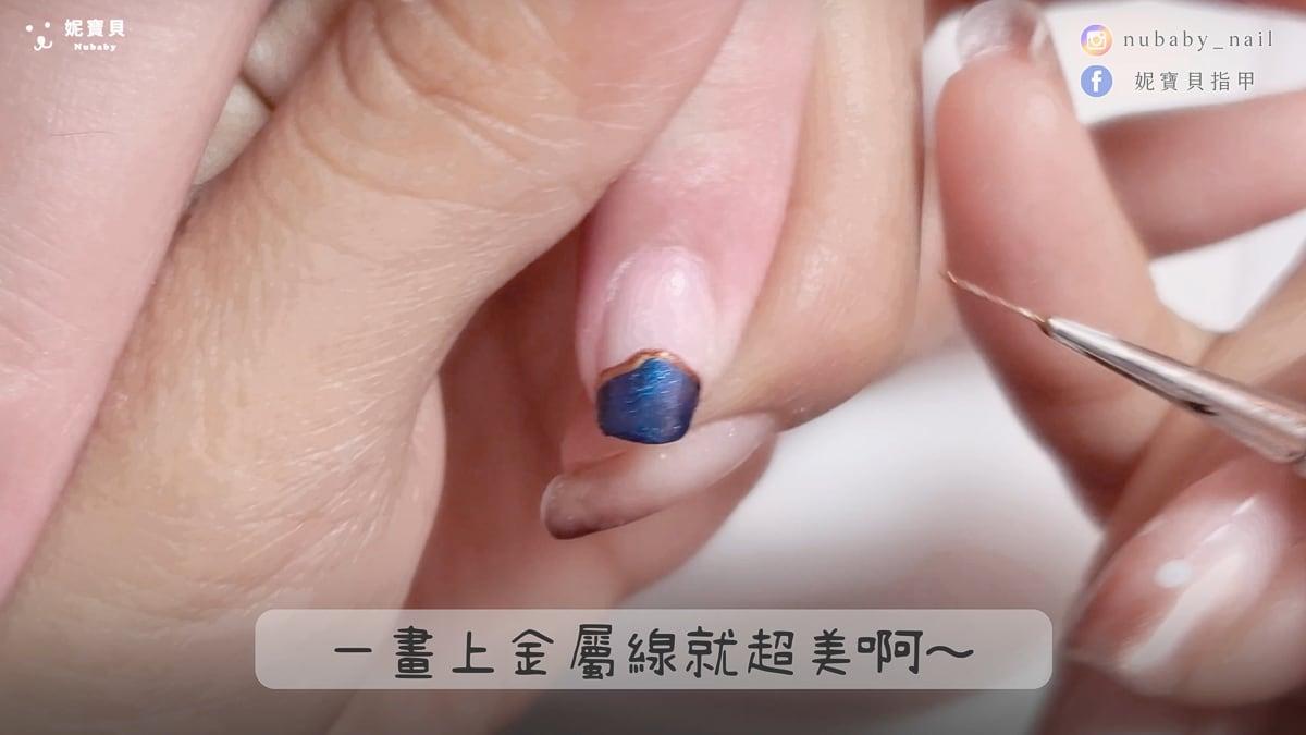 深色聖誕 低調神秘魔法風 璀璨凝膠指甲製作