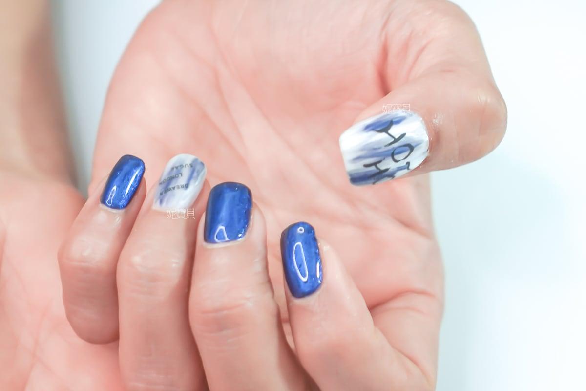 美式聖誕元素 刷色油畫暈染示範 璀璨凝膠指甲教學