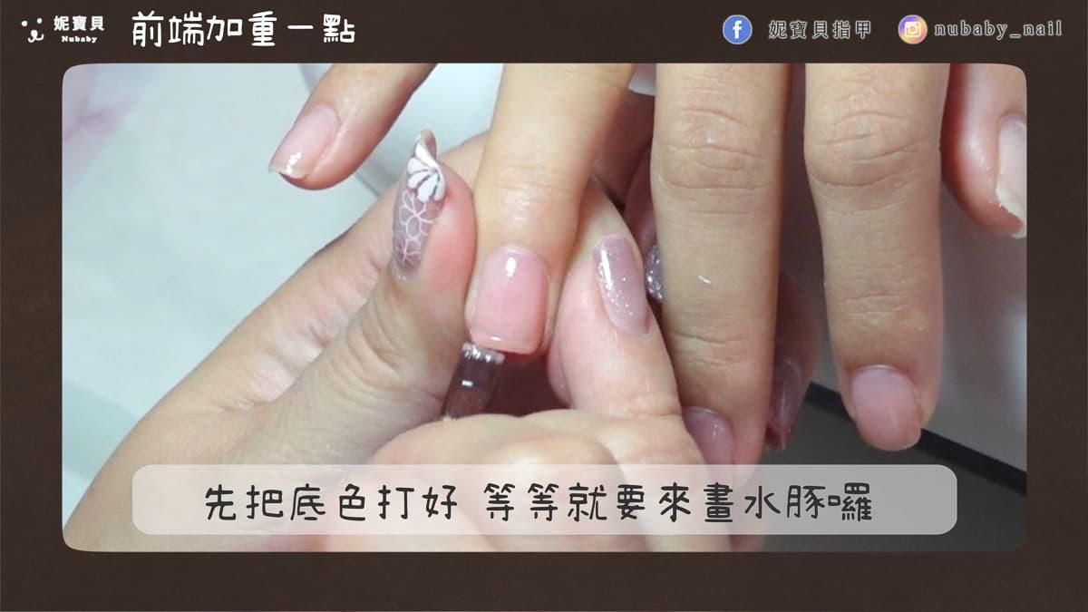 水豚君手繪 彩繪凝膠指甲 兩隻萌萌水豚