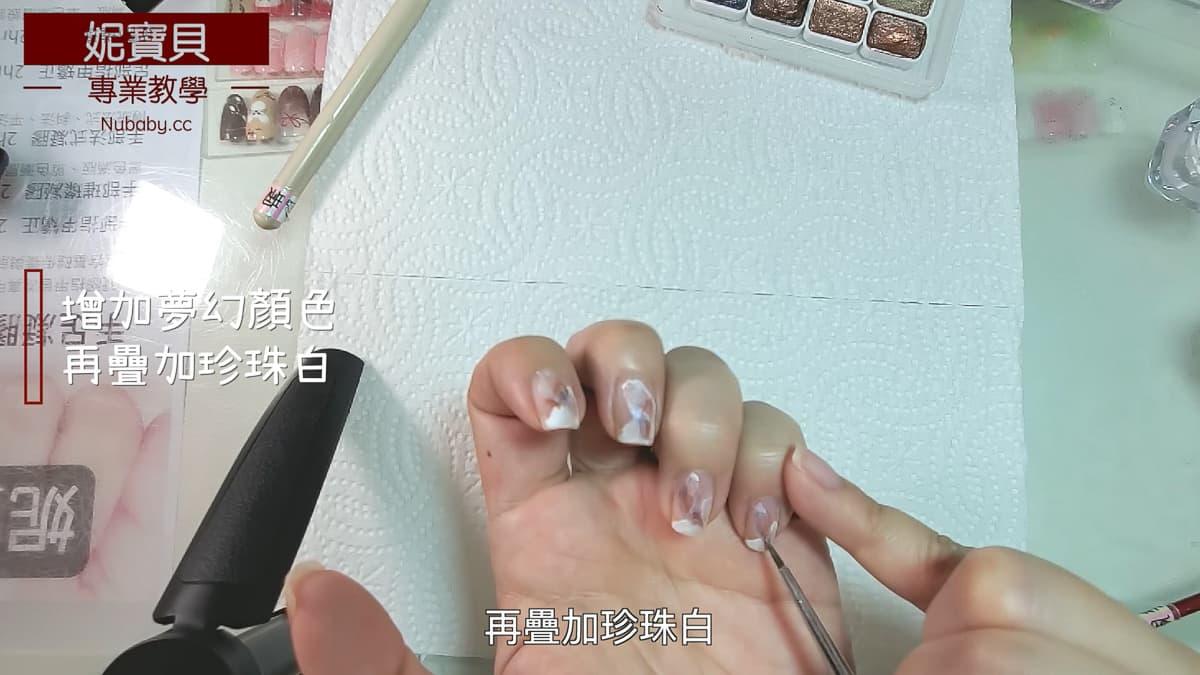 顏料暈染設計 Peggy自行彩繪手指 真人真甲教學